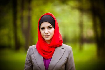 beautiful muslim woman wearing hijab