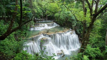 Time-lapse of waterfall in the forest