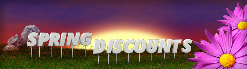 Spring Discounts background template