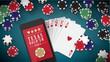 Hold'em poker banner - 78450920