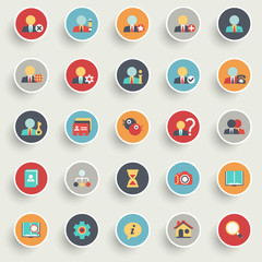 Set of flat icons for e-commerce, marketing.