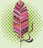 Ethnic feather with tape in color