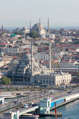 Turkey, Istanbul, Cityscape with mosques
