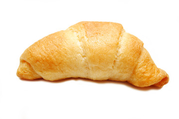 Fresh Baked Croissant Isolated on White