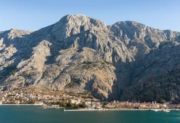 Mountains near Kotor city. Winter in Montenegro