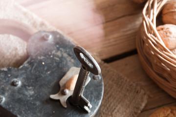 old padlock and key