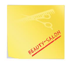 ssn17 SelfStickNotes - Haftnotiz - beauty-salon - gelb g3211