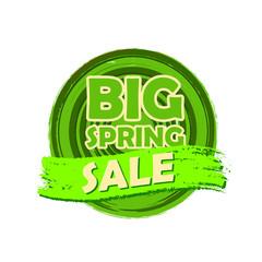 big spring sale, round drawn label