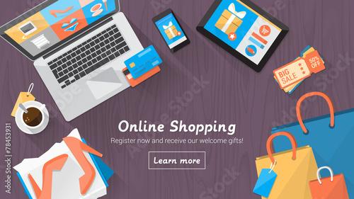 Online shopping desktop - 78453931