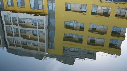 Building reflected on the water