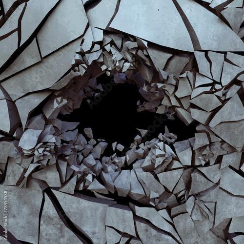 Cracked earth, vector - 78454538