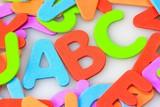 Fototapety ABC im Buchstaben-Wirrwarr