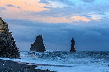Sea Rockies in South Iceland