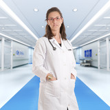 Serious female doctor at the hospital