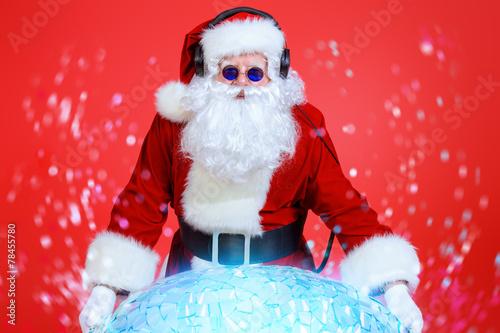 Leinwanddruck Bild santa mix-master