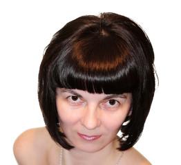 портрет брюнетки
