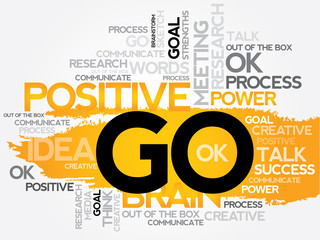 GO word cloud, business concept