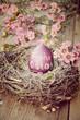 Leinwandbild Motiv Ostergrüße - Frohe Ostern - nostalgisch