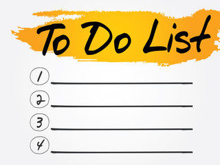 To Do List, business concept