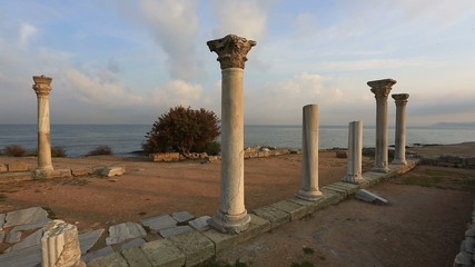 ruins of Ancient Greek city of Chersonese early