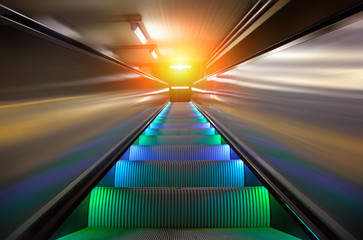 the escalator of subway station