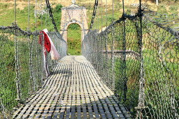 Bridge over Punyamati river. Panauti-Nepal. 1071