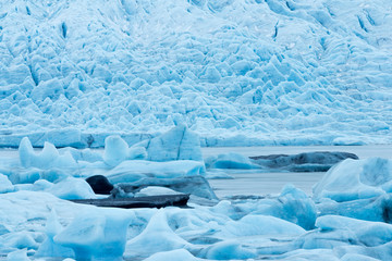 Iceland, Vatnajokull, Iceberg