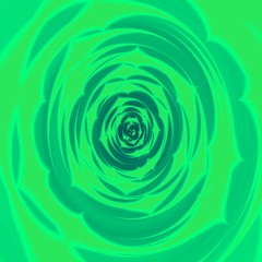 Abstract green fractal background like green leafy rosette