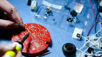 installation of electronic components on a printed circuit board