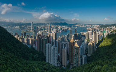 Hong Kong, View on city skyline
