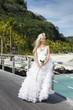 beautiful woman  on the tropical island..