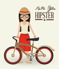 Hipster design, vector illustration.