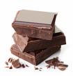 Pieces of dark chocolate - 78458567