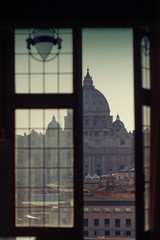 Vatican, Saint Peter Basilica, as viewed from Castel Sant'Angelo