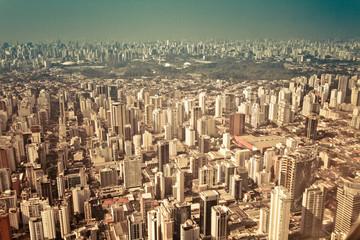 Brazil, Sao Paulo, Aerial view of city