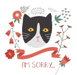 I'm Sorry Greeting Card.