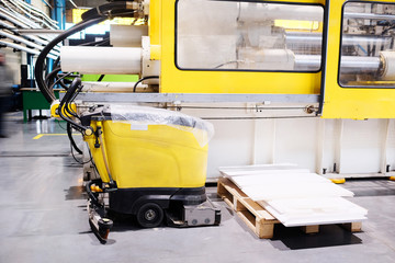 The image floor cleaning machine