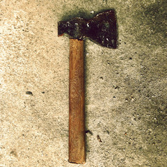 Hammer on concrete textured surface