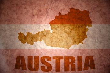 Vintage austria map