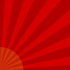 Red Sunburst - Illustration