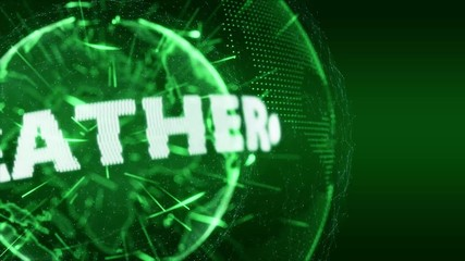 World News weather Globe Intro Teaser green