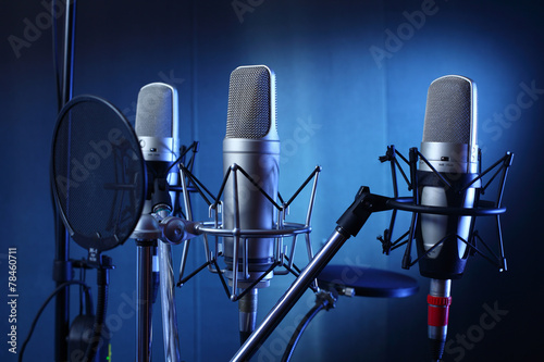 canvas print picture studio microphone
