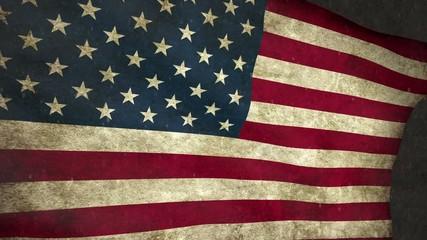 Winter flag USA