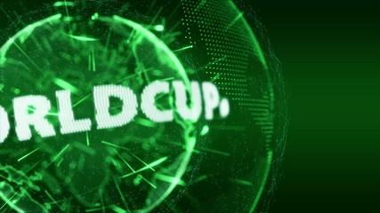 World News Worldcup Globe Intro Teaser green