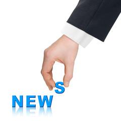 Hand and word News
