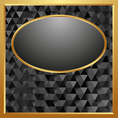 dark background with golden frame