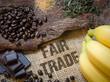 Leinwanddruck Bild - Lebensmittel Fair Trade