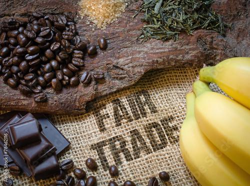 Leinwanddruck Bild Lebensmittel Fair Trade