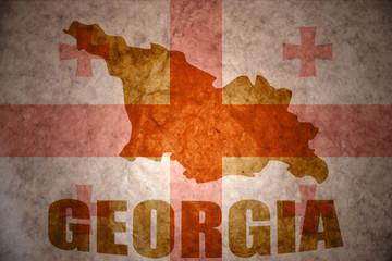 Vintage georgia map
