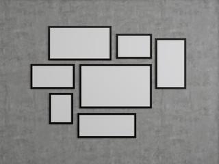 many blank frame